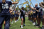 CHAPEL HILL, NC - MAY 20: Navy's Blake Smith (32) during player introductions. The University of North Carolina Tar Heels hosted the U.S. Naval Academy Midshipmen on May 20, 2017, at Fetzer Field in Chapel Hill, NC in an NCAA Women's Lacrosse Tournament Quarterfinal match. Navy won the game 16-14.