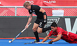 Sam Lane during the Pro League Hockey match between the Blacksticks men and Belgium, National Hockey Arena, Auckland, New Zealand, Sunday 2 February 2020. Photo: Simon Watts/www.bwmedia.co.nz