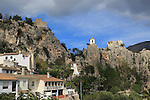 Hilltop castle and village, El Castell de Guadalest, Alicante province, Spain