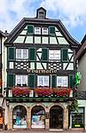 Half-timbered pharmacy in Obernai