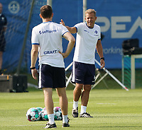 Trainer Markus Anfang (SV Darmstadt 98) und Co-Trainer Kai Peter Schmitz (SV Darmstadt 98) - 01.08.2020: SV Darmstadt 98 Trainingsauftakt, Stadion am Boellenfalltor, 2. Bundesliga, emonline, emspor<br /> <br /> DISCLAIMER: <br /> DFL regulations prohibit any use of photographs as image sequences and/or quasi-video.