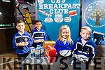 Launching the  Breakfast Club at CBS Primary School on Tuesday were L-R Rigon Stublla, Vishnu Prasanna Vvenkatesan, Katelyn Dennehy and Dean Heaphy