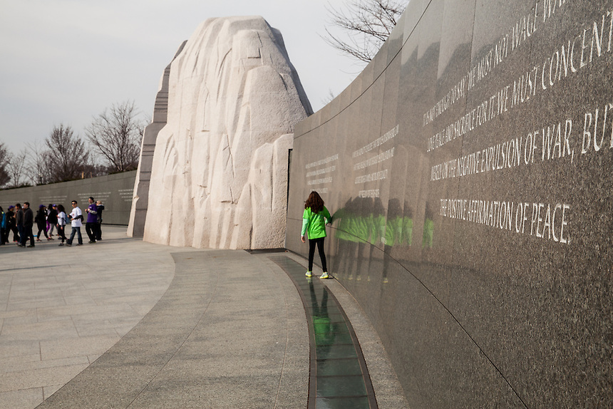 The path for the 2014 National Walk for Epilepsy traveled through the Martin Luther King, Jr. Memorial in Washington, D.C. on March 26, 2014.
