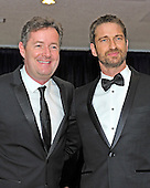 Piers Morgan and Gerard Butler arrive for the 2013 White House Correspondents Association Annual Dinner at the Washington Hilton Hotel on Saturday, April 27, 2013..Credit: Ron Sachs / CNP.(RESTRICTION: NO New York or New Jersey Newspapers or newspapers within a 75 mile radius of New York City)