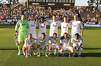 WhiteCaps Starting XI players are posed together for group photo before the game against the Earthquakes at Buck Shaw Stadium in Santa Clara, California on July 20th, 2011.  Earthquakes and WhiteCaps are tied 1-1 at halftime.