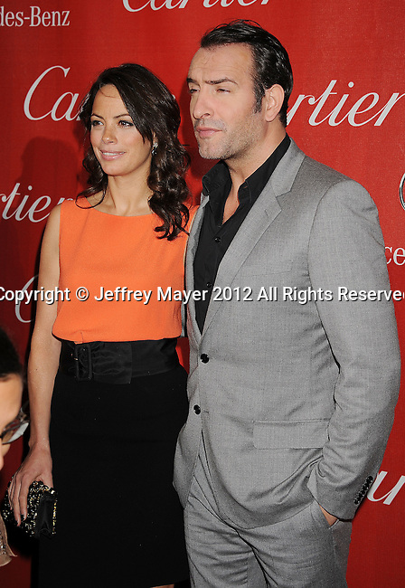 PALM SPRINGS, CA - JANUARY 07: Berenice Bejo and Jean Dujardin arrive at the 2012 Palm Springs Film Festival Awards Gala at the Palm Springs Convention Center on January 7, 2012 in Palm Springs, California.