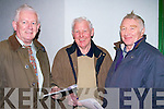 PROGRAMMES: Paddy O'Connor(Tralee), Paddy Collins and Donie Mulvihill (Ballylongford) waiting for a winner at the Kingdom Greyhound Stadium, Tralee on Friday night.........
