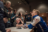Marcel Kittel's (GER/Quick Step Floors) post-race interview after winning the Scheldeprijs for a record 5th time (in 6 years)<br /> <br /> 105th Scheldeprijs 2017 (1.HC)<br /> 1 Day Race: Mol &rsaquo; Schoten (BEL/202km)