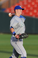 First baseman Ryan O'Hearn (22) of the Lexington Legends warms up before a game against the Greenville Drive on Tuesday, April 14, 2015, at Fluor Field at the West End in Greenville, South Carolina. Lexington won, 5-3. (Tom Priddy/Four Seam Images)