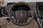 Car pictures of steering wheel view of a 2019 Lincoln Nautilus Select 5 Door SUV