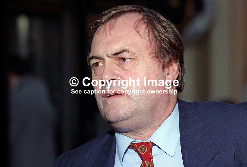 John Prescott, MP, Labour Party, UK, 19921002JP1.<br />