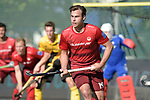 GER - Mannheim, Germany, May 27: During the men semi-final match between Rot-Weiss Koeln and Harvestehuder THC at the Final4 tournament May 27, 2017 at Am Neckarkanal in Mannheim, Germany. (Photo by Dirk Markgraf / www.265-images.com) *** Local caption *** Christopher ZELLER #19 of Rot-Weiss Koeln