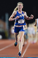 Hanna Everson of Air Force wins in 10000 meter semifinal during West Preliminary Track and Field Championships, Friday, May 29, 2015 in Austin, Tex. (Mo Khursheed/TFV Media via AP Images)
