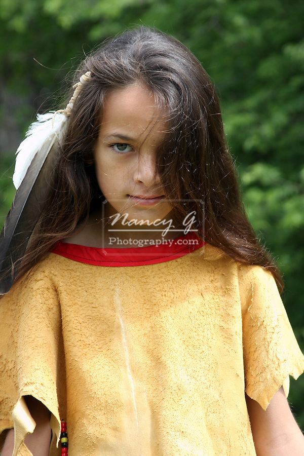 A Native American Indian boy Lakota Souix