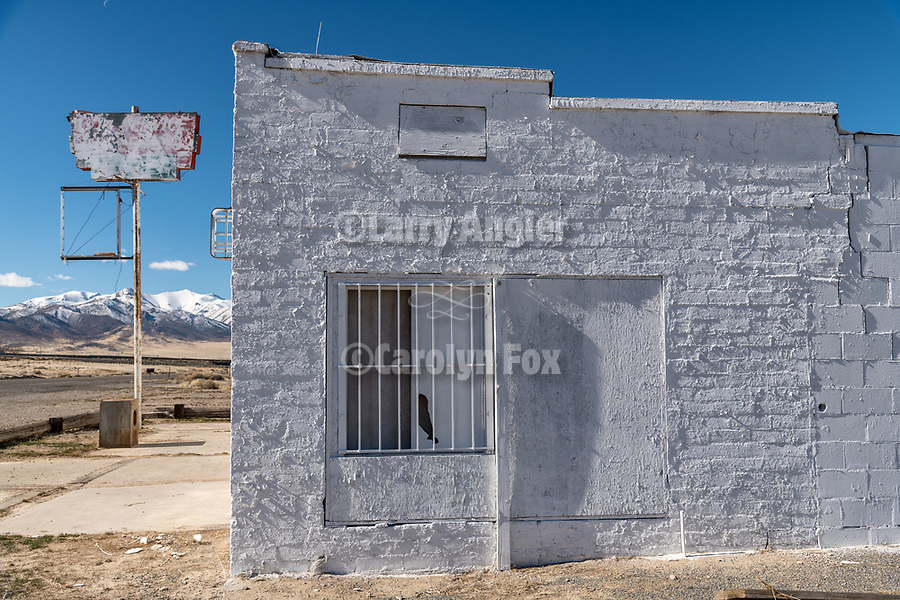 Abandoned store and sign along the I-80 frontage road, Imlay, Nevada