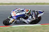 14.06.2013 Barcelona, Spain. Gran Premi Aperol de Catalunya. Free practice 1. Picture show Jorge Lorenzo ridding Yamahai at Circuit de Catalunya