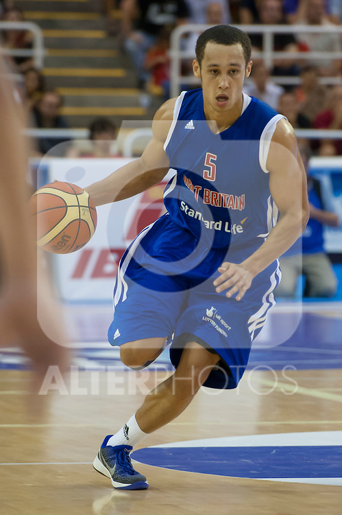 Great Britain's Andrew Lawrence during friendly match.July 9,2012.(ALTERPHOTOS/Ricky)
