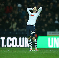 Preston North End's Tom Barkhuizen reacts after shooting wide<br /> <br /> Photographer Stephen White/CameraSport<br /> <br /> The EFL Sky Bet Championship - Preston North End v Hull City - Wednesday 26th December 2018 - Deepdale Stadium - Preston<br /> <br /> World Copyright &copy; 2018 CameraSport. All rights reserved. 43 Linden Ave. Countesthorpe. Leicester. England. LE8 5PG - Tel: +44 (0) 116 277 4147 - admin@camerasport.com - www.camerasport.com
