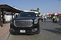 Shane Lowry (IRL) vehicle for the week during Round 3 of the Omega Dubai Desert Classic, Emirates Golf Club, Dubai,  United Arab Emirates. 26/01/2019<br /> Picture: Golffile | Thos Caffrey<br /> <br /> <br /> All photo usage must carry mandatory copyright credit (© Golffile | Thos Caffrey)