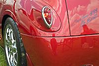 Custom car 333  Half Evil, Burnt Orange, Red Devil Tail Light