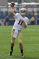 Notre Dame quarterback Tommy Rees. The Notre Dame Fighting Irish defeated the Pitt Panthers 15-12 at Heinz field in Pittsburgh, Pennsylvania on September 24, 2011.