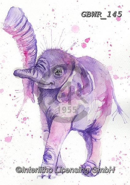 Simon, REALISTIC ANIMALS, REALISTISCHE TIERE, ANIMALES REALISTICOS, innovative, paintings+++++a_KatherineW_SplatterBabyElephant,GBWR145,#a#, EVERYDAY,elephant