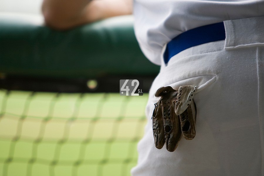 19 August 2007: Close up view of a baseball glove during the Japan 4-3 victory over France in the Good Luck Beijing International baseball tournament (olympic test event) at the Wukesong Baseball Field in Beijing, China.