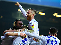 Leeds United players celebrate after taking the lead through an own goal<br /> <br /> Photographer Alex Dodd/CameraSport<br /> <br /> The EFL Sky Bet Championship - Leeds United v Blackburn Rovers - Wednesday 26th December 2018 - Elland Road - Leeds<br /> <br /> World Copyright &copy; 2018 CameraSport. All rights reserved. 43 Linden Ave. Countesthorpe. Leicester. England. LE8 5PG - Tel: +44 (0) 116 277 4147 - admin@camerasport.com - www.camerasport.com