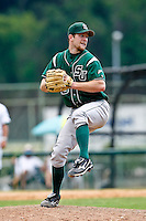April 23, 2011:    Stetson Hatters rhp Lindsey Caughel (13) during Atlantic Sun Conference action between Stetson Hatters and Jacksonville University Dolphins at John Sessions Stadium in Jacksonville, Florida.  Jacksonville defeated Stetson 10-4...........