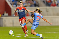 Chicago, IL - Saturday Sept. 24, 2016: Joanna Lohman, Danielle Colaprico during a regular season National Women's Soccer League (NWSL) match between the Chicago Red Stars and the Washington Spirit at Toyota Park.