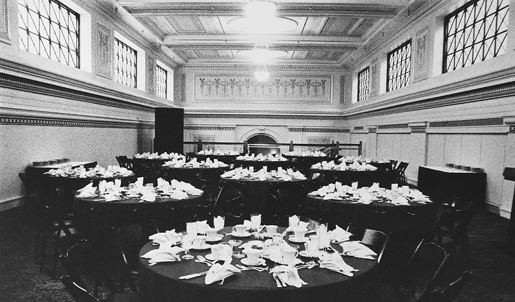 Dining area at the Columbus Club. (Photo by CQ Roll Call via Getty Images)