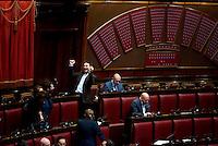 Roma, 31 Gennaio 2014<br /> Camera dei Deputati - Voto sulle pregiudiziali di costituzionalità della legge elettorale<br /> Deputato esulta dopo il voto