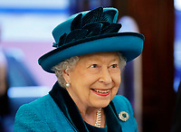 Queen Elizabeth II visits the new headquarters of the Royal Philatelic society