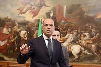 Roma, 28 Aprile 2013.Palazzo Chigi.Primo giorno del Governo Letta..Il Vice Premier e Ministro dell'Interno Angelino Alfano