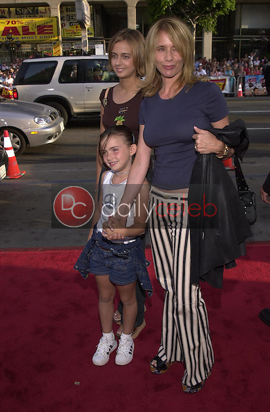Rosanna Arquette with daughter Zoe and friend C.J.