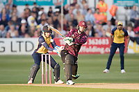 Eddie Byrom of Somerset CCC pulls into the on side during Essex Eagles vs Somerset, Vitality Blast T20 Cricket at The Cloudfm County Ground on 7th August 2019