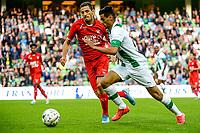 GRONINGEN - Voetbal, FC Groningen - FC Twente, Eredivisie, seizoen 2019-2020, 10-08-2019, FC Groningen speler Mo El Hankouri snelt langs zijn tegenstander