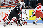 Shane Luke (PC - 20) (hidden behind Megan) scores his first collegiate goal making it 4-1 BU in the second period. - The Boston University Terriers defeated the visiting Providence College Friars 6-1 on Friday, January 20, 2012, at Agganis Arena in Boston, Massachusetts.