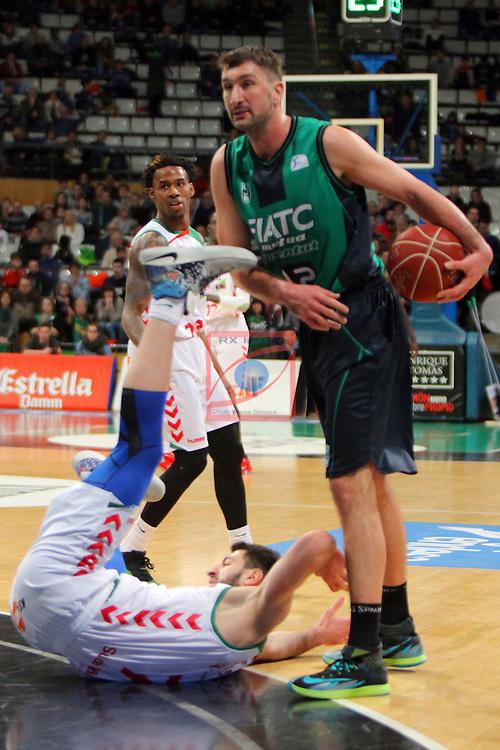 League ACB-Endesa 2015-2016. Game: 16.<br /> FIATC Joventut vs Laboral Kutxa Baskonia: 68-89.<br /> Shengelia vs Suton.
