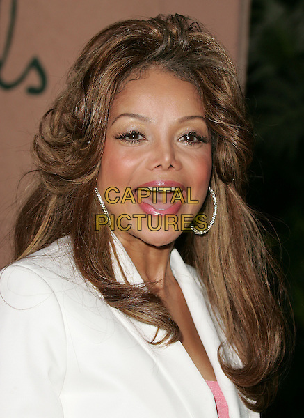 LATOYA JACKSON.The 1st Annual Crest White Strips Style Awards held at The Beverly Hills Hotel in Beverly Hills, California .June 16,2004.headshot, portrait, pink lipstick, nose job, plasctic surgery, mouth open, speaking, talking, hoop earrings.www.capitalpictures.com.sales@capitalpictures.com.©Capital Pictures