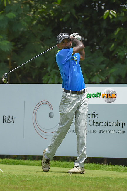 B A SANJEEWA (SRI) watches his tee shot on 5 during Rd 2 of the Asia-Pacific Amateur Championship, Sentosa Golf Club, Singapore. 10/5/2018.<br /> Picture: Golffile | Ken Murray<br /> <br /> All photo usage must carry mandatory copyright credit (© Golffile | Ken Murray)