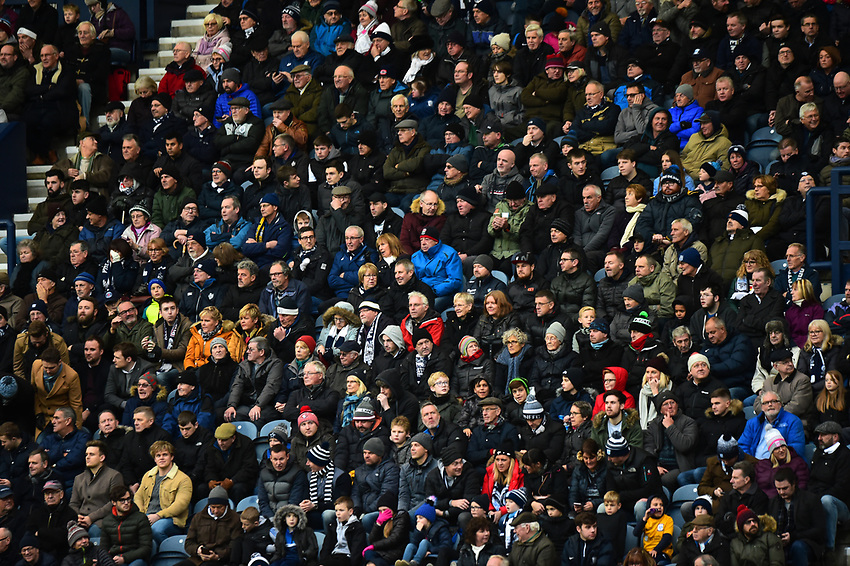 Preston North End fans look on<br /> <br /> Photographer Richard Martin-Roberts/CameraSport<br /> <br /> The EFL Sky Bet Championship - Preston North End v Blackburn Rovers - Saturday 24th November 2018 - Deepdale Stadium - Preston<br /> <br /> World Copyright © 2018 CameraSport. All rights reserved. 43 Linden Ave. Countesthorpe. Leicester. England. LE8 5PG - Tel: +44 (0) 116 277 4147 - admin@camerasport.com - www.camerasport.com