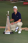 Martin Kaymer holding his Race to Dubai trophy after winning the European tour race to dubai order of Merit, during the final round of the Dubai World Championship on the Earth Course at the Jumeirah Golf Estate, Dubai..Picture Fran Caffrey/www.golffile.ie.