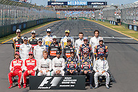 March 15, 2015: The drivers' photo at the 2015 Australian Formula One Grand Prix at Albert Park, Melbourne, Australia. Photo Sydney Low