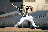 Slippery Rock pitcher Anthony Naso (24) during a game against Kentucky Wesleyan College at Jack Russell Stadium on March 14, 2014 in Clearwater, Florida.  Slippery Rock defeated Kentucky Wesleyan 18-13.  (Mike Janes/Four Seam Images)