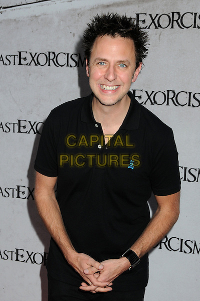 "JAMES GUNN .""The Last Exorcism"" Los Angeles Premiere held at Arclight Cinemas, Hollywood, California, USA, .24th August 2010..half length black t-shirt .CAP/ADM/BP.©Byron Purvis/AdMedia/Capital Pictures."