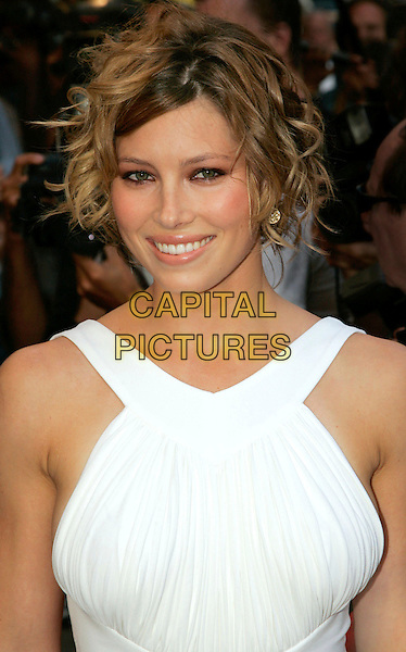 "JESSICA BIEL.At the NY Premiere of ""The Illusionist"" at Chelsea West Theatre - Outside Arrivals, New York, NY, USA..August 15th, 2006.Photo: Jackson Lee/Admedia/Capital Pictures.Ref: ADM/JL.headshot portrait .www.capitalpictures.com.sales@capitalpictures.com.©Jackson Lee/AdMedia/Capital Pictures."