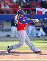 Jose Bautista / Dominican Republic - 2009 Caribbean Series, Mexicali..Photo by:  Bill Mitchell/Four Seam Images