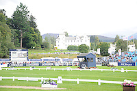 Blair Atholl, Scotland, UK. 11th September, 2015. Longines  FEI European Eventing Championships 2015, Blair Castle. Sara Algotsson Ostholt (SWE) riding Reality 39 during the dressage phase.  © Julie Priestley