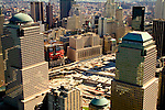 Aerial photo of Ground Zero World Trade Center area on 1 year anniversary